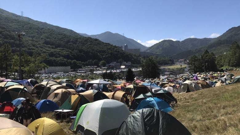 フジロックのキャンプサイト