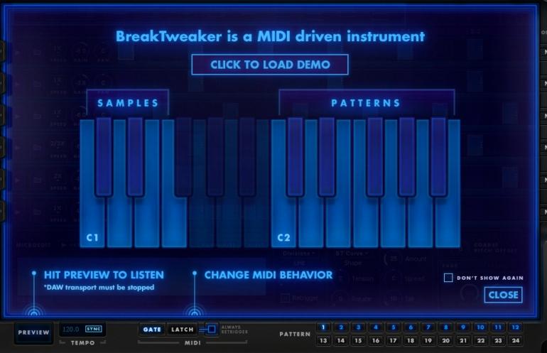 BreakTweaker MIDI