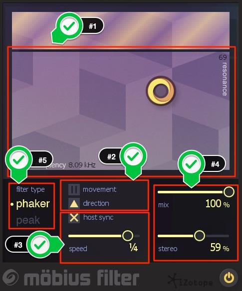 Mobius Filter パラメーター