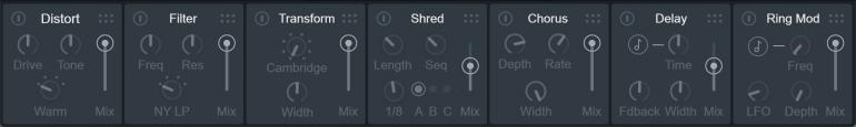 VocalSynth2のエフェクト