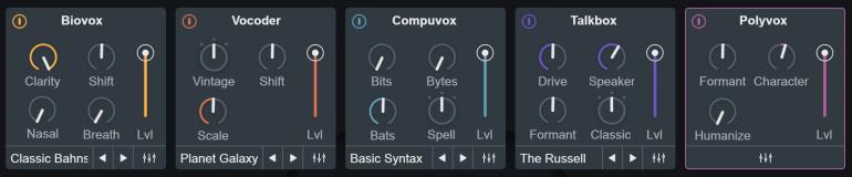 VocalSynth2のモジュール