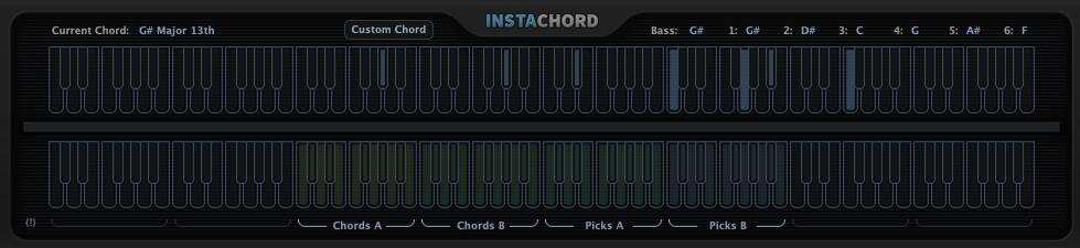 InstaChordのキーボード