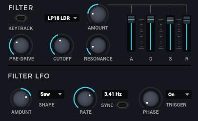 Bass MasterのFilterとLFO