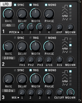 Carbon ElectraのLFO