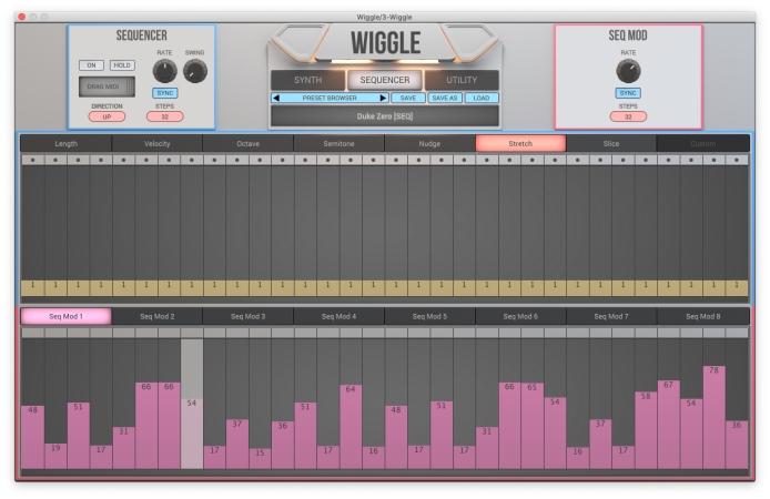 Wiggleシンセのシーケンサー