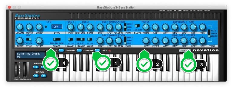 Bass_Stationプラグインの使い方1-4
