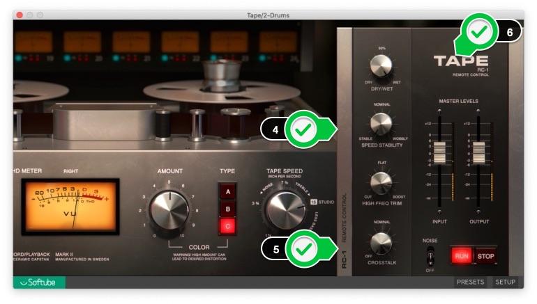 Softube_TapeのRC-1画面