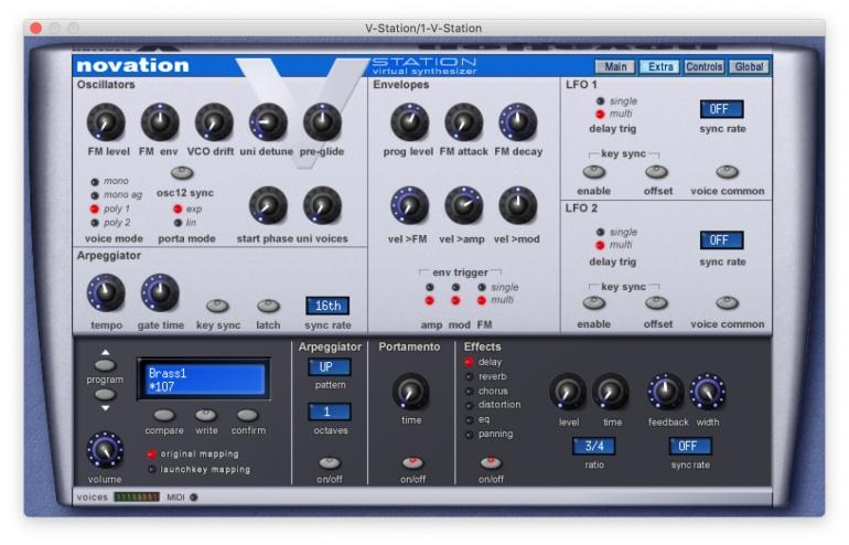 V-StationのExtra画面