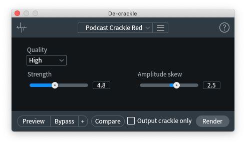 RX8のDe_crackle