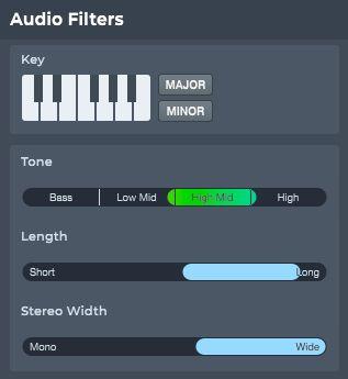 LoopcloudのAudioFilters