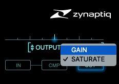 Zynaptiq_IntensityのOutputとSaturate
