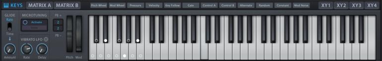 uheHive2のキーボード
