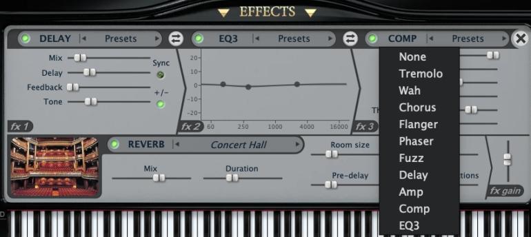 PianoteqのEffects