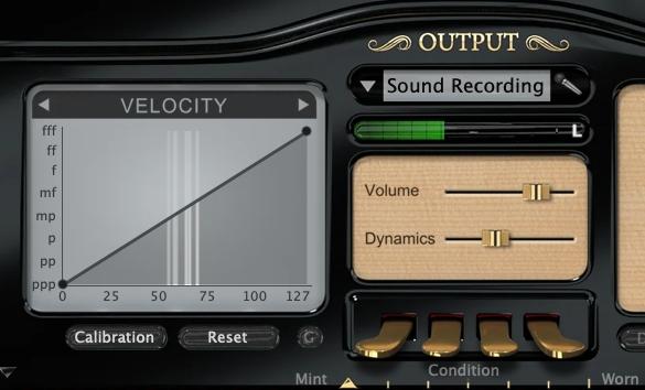 PianoteqのVelocityとOutput