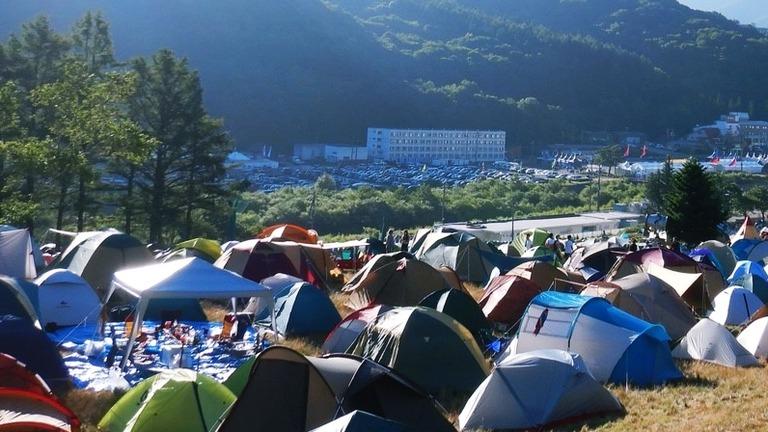 高さのあるテント