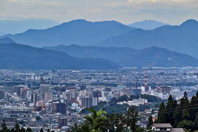 長野市の街並み