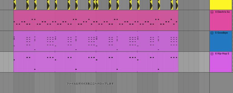 MIDIの打ち込み